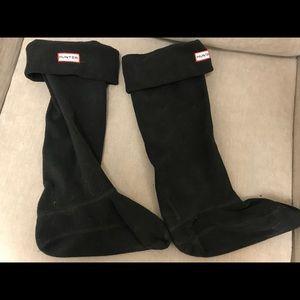 Hunter Boot Black Socks